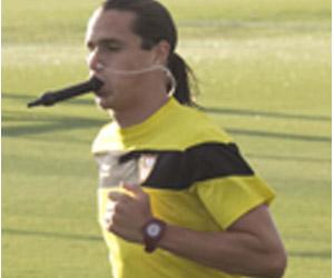Bernardo, en un entrenamiento de esta pretemporada