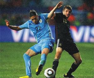 Sevilla FC: Martín Cáceres en el choque frente a Alemania del Mundial