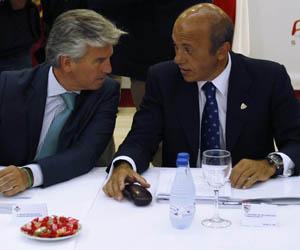 Sevilla: José María del Nido habla con Miguel Guillén, presidente del Betis