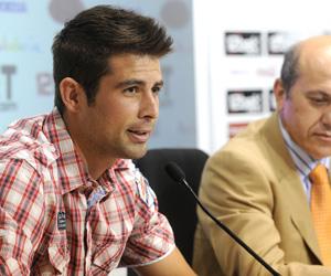 Sevilla FC: Coke, durante la rueda de prensa de su presentación