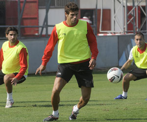 Sevilla: Fazio, en un entrenamiento