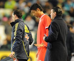Imagen de Hiroshi en su debut ante el Real Betis