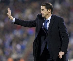 Jiménez, durante un partido con el Zaragoza