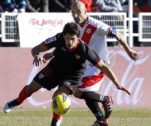 Sevilla: Perotti en el partido ante el Rayo
