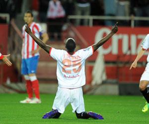 Babá celebra el gol ante el Atlético