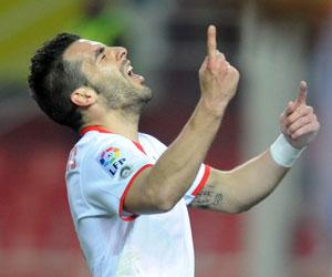 Sevilla: Negredo espera continuar con su buena racha de cara al gol