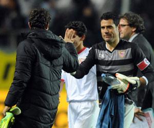 Sevilla: Palop, en el partido ante el Osasuna