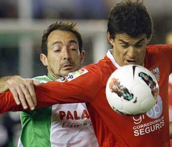 Sevilla: Perotti, en El Sardinero, donde jugó su último partido