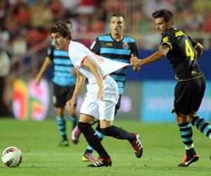 Campaña, en un partido ante el Espanyol