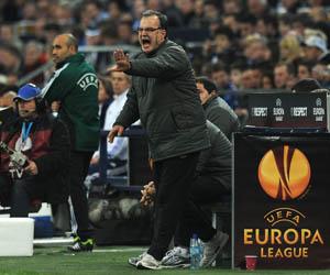 Bielsa en un partido de la Liga Europa