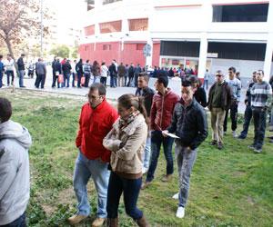 Los seguidores sevillistas agotaron las entradas en dia y medio