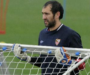 Diego López, este viernes en el entrenamiento