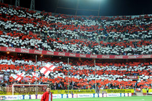 Sevilla: El Sánchez-Pizjuán, el día del Sevilla-Barcelona