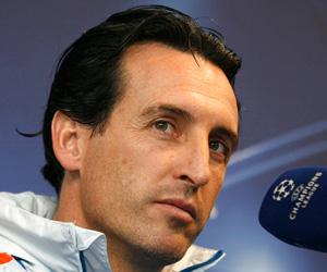 Unai Emery, entrenador del Valencia