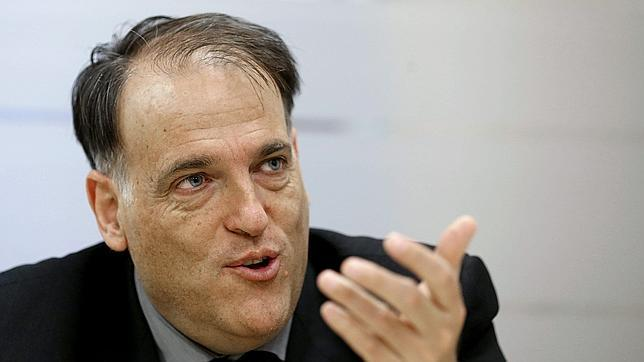 El presidente de la Liga de Fútbol Profesional (LFP), Javier Tebas