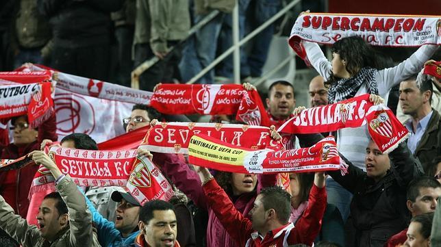 La afición del Sevilla, en un partido