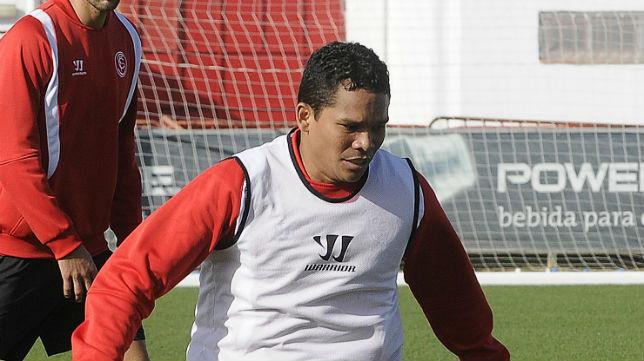 El artillero del Sevilla FC Carlos Bacca volvió a marcar
