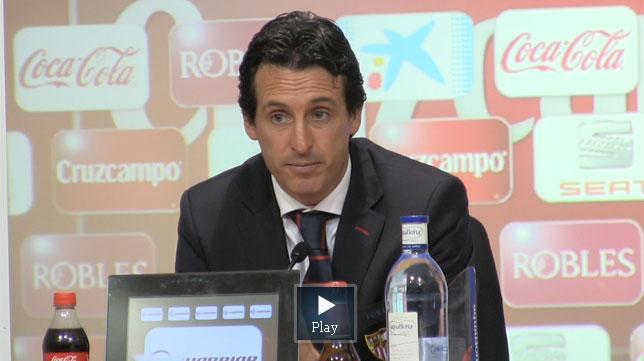 Emery habló en la sala de prensa del estadio Do Dragaos