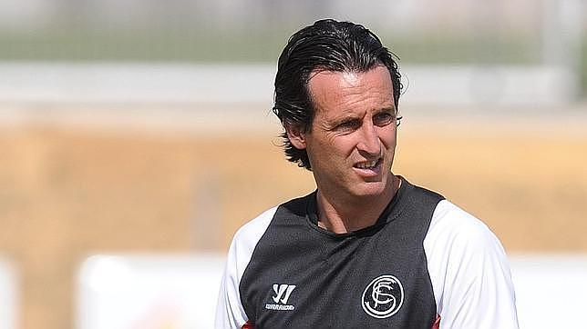 Emery, durante un entrenamiento