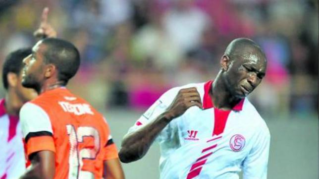 Lance del Sevilla-Málaga de la temporada pasada (2-2)