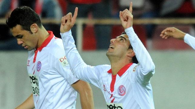 Reyes celebra un gol marcado al Betis