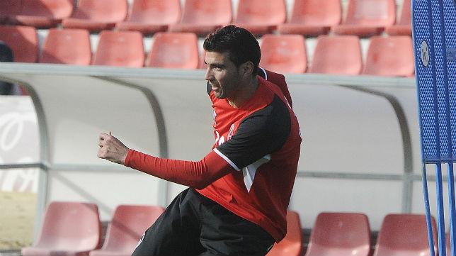 José Antonio Reyes, durante una sesión de trabajo en la ciudad deportiva