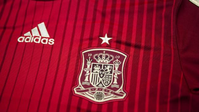 Detalle de la camiseta de España que jugó el Mundial de Brasil