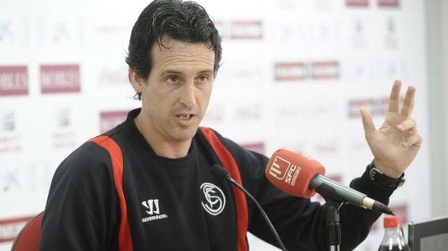 El técnico vasco del Sevilla FC, en rueda de prensa