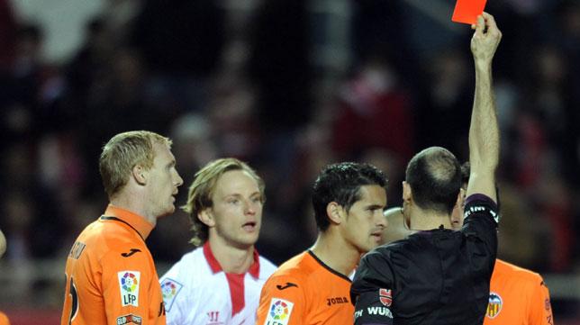 Álvarez Izquierdo, en un Sevilla-Valencia