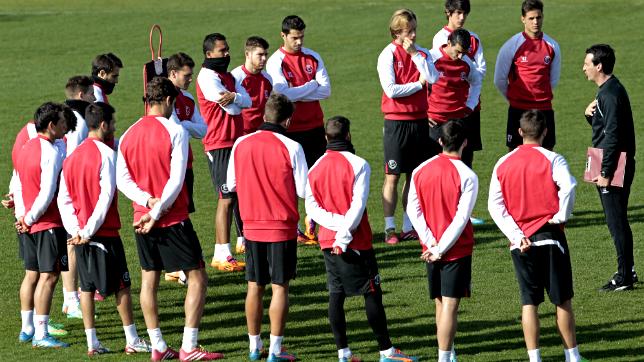 Imagen de un entrenamiento del Sevilla de la pasada temporada
