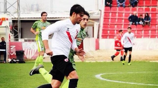 Lance de un partido del Sevilla Atlético esta temporada