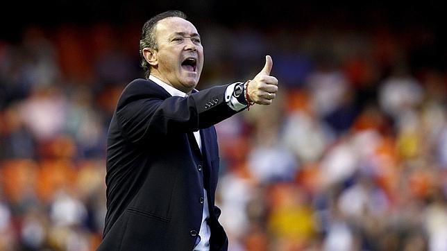 Juan Ignacio Martínez durante un partido