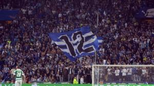La afición del Oporto durante un choque ante el Sporting Club
