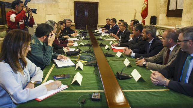 Imagen de la reunión de seguridad