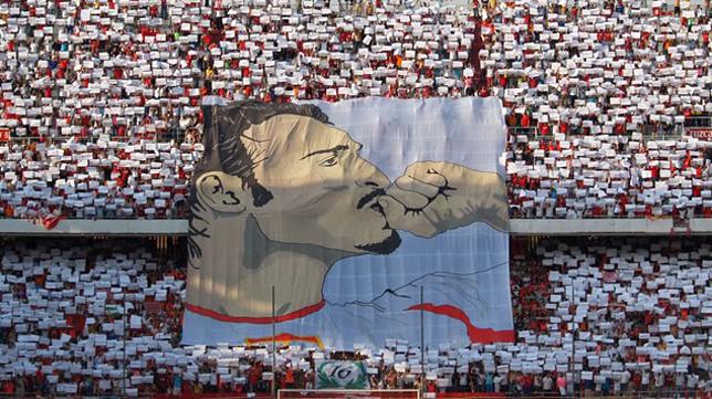 Tifo homenaje a Antonio Puerta