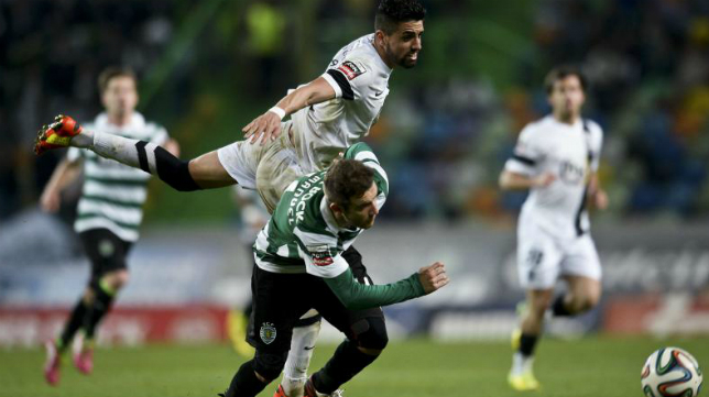 Capel, en un partido con el Sporting de Lisboa