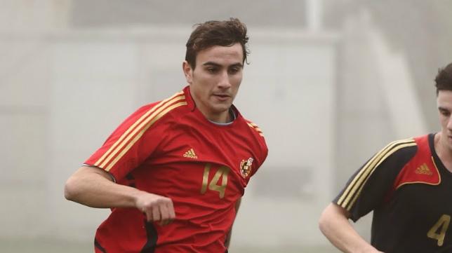Juan Muñoz, con la selección española