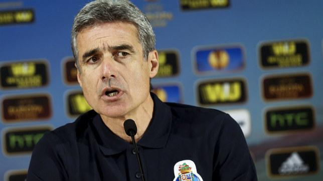 El míster del Oporto durante la rueda de prensa de la UEFA