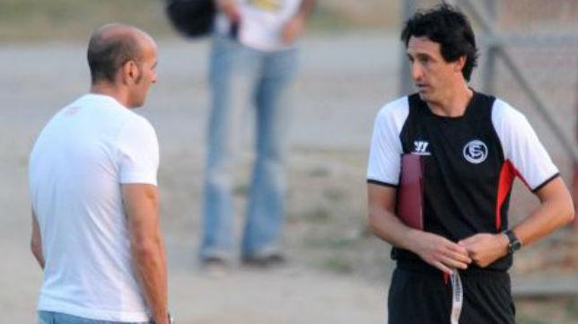 Monchi y Emery, en la ciudad deportiva