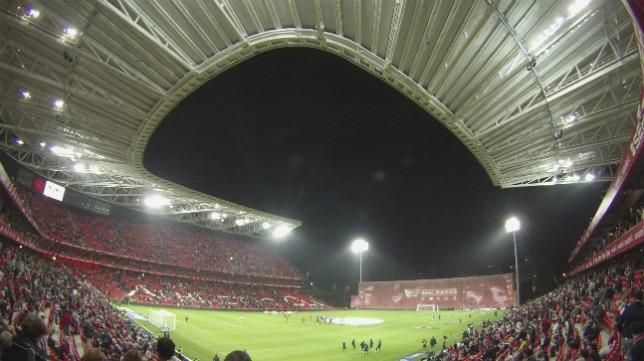 Panorámica del nuevo Estadio de San Mamés