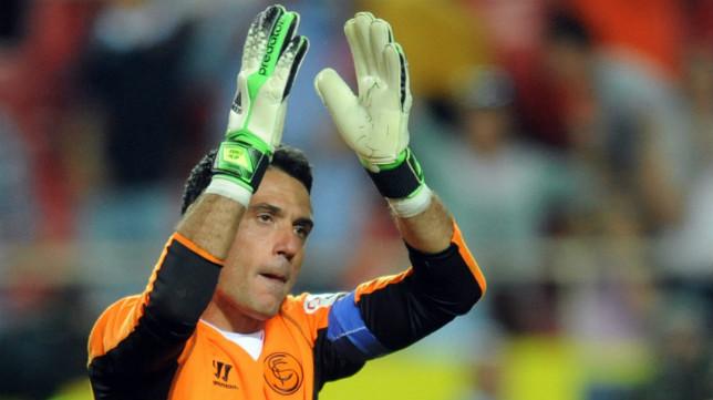 Palop, el día de su último partido con el Sevilla