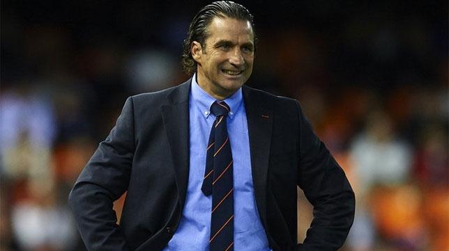 Pizzi, en un partido con el Valencia