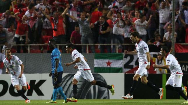 Momento en el que Bacca celebra uno de sus goles