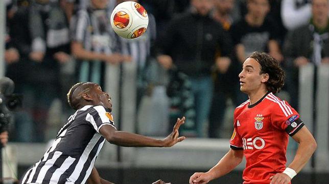 Imagen del partido disputado hoy entre la Juventus y el Benfica