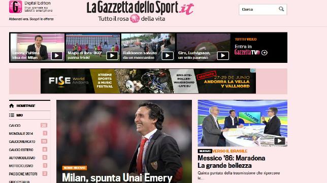 Edición web de La Gazzeta 23-05-14