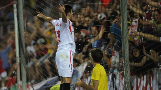 Jairo celebra su gol ante el Elche
