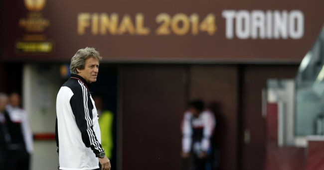 El entrenador del Benfica, Jorge Jesús, en el entrenamiento
