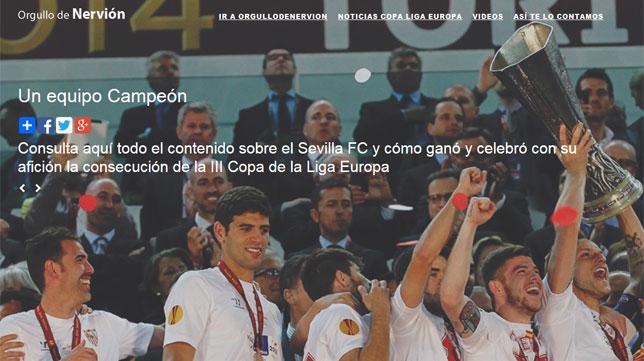 Portada del especial que Orgullodenervion dedica a la consecución de la tercera UEFA Europa League del Sevilla