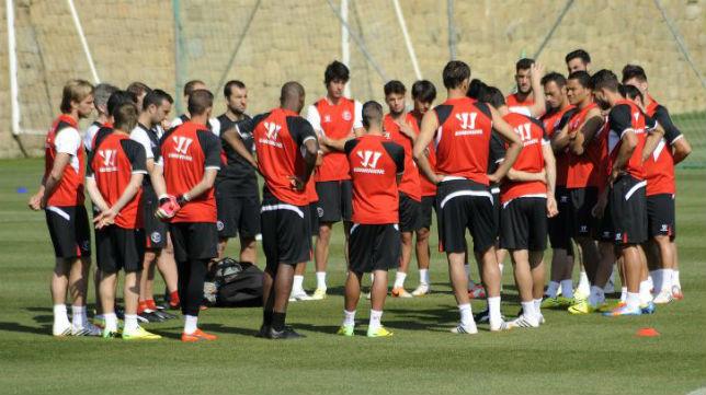 El Sevilla FC, en Marbella ejercitándose