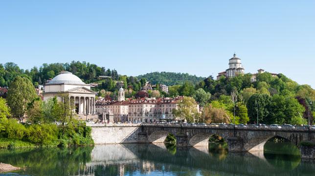 Imagen de la ciudad de Turín en la que se disputa la final de la UEFA Europa League